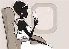 woman on flight